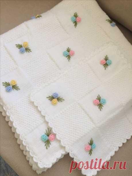 nakışlı bebek battaniye modelleri – Elişi Marketi, Örgü