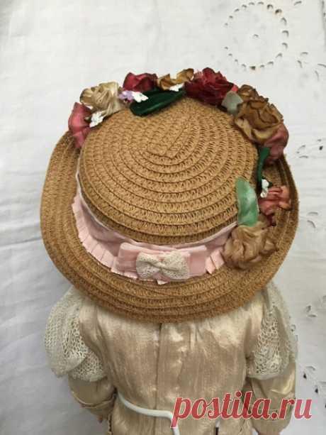 Две шляпки для антикварных или винтажных кукол в осенних тонах. / Антикварные, реплики / Шопик. Продать купить куклу / Бэйбики. Куклы фото. Одежда для кукол