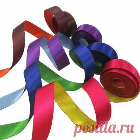 Двусторонняя атласная лента 16 мм, 22 цвета