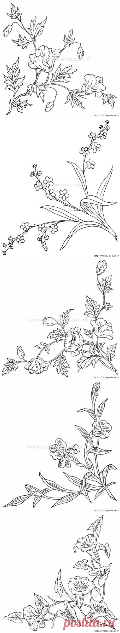 уголки. цветочное