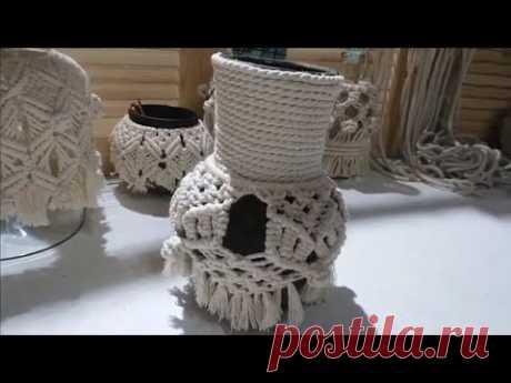#vase//Вязание Макраме//своими руками//home decor//#macrame❤️ - YouTube #macrame #Макраме #vase #handicrafts  #подхват  #chrochet #flowers #ваза #цветы #boho #macrame #crochet #пряжа #вязание Мастер класс ваза (глечик, крынка) с цветами своими руками. Изысканный декор handmade в домашних условиях. Мастер макраме за работой. Цветы в вазе можно использовать живые или искусственные. Украшения, посуда хенд мейд своими руками 2019 год. Нитки, пряжа я использую- кручeный канат.