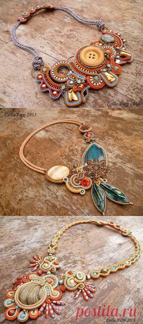 Украшения в технике сутажной вышивки от Csilla Papp Soutache Jewelry. Часть I.