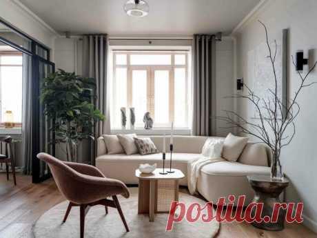 Элегантно и просто: интерьер небольшой квартиры площадью 49 м² в экостиле | Architect Guide | Яндекс Дзен
