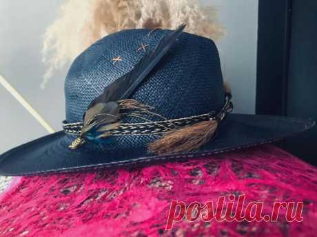 Простой декор летней шляпки