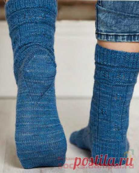 """Knitted socks \""""To The Lighthouse\"""""""