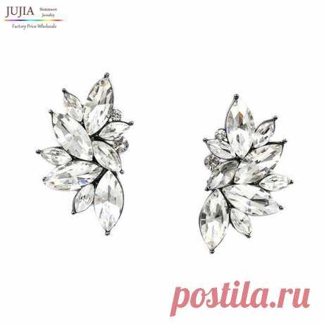2016 новый оптовая урожай дизайн кристалл серьги мода женщины себе Серьги стержня для женщин серьгакупить в магазине JUJIA Official StoreнаAliExpress