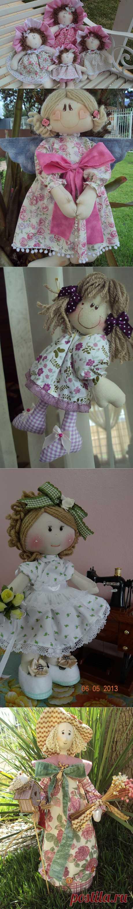 Работы Maria Helena Strapazzon Furlan: лоскутные куклы, аппликации