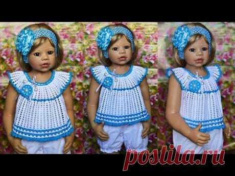 Туничка для девочки. Вязание для начинающих.Мастер класс и схема.