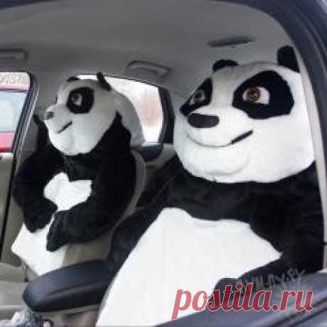 Прикольный чехол на автокресло - посади рядом панду!
