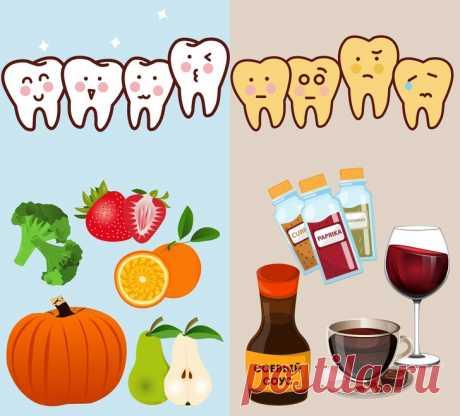 Как сохранить здоровье зубов и отбелить их с помощью еды - Образованная Сова