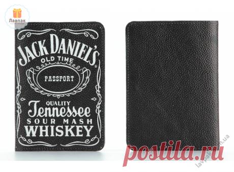 Jack Daniels - Кожаная обложка на паспорт с логотипом виски Джек Дениелс  → Купить за 199 грн. → Цена, Отзывы