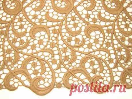 Французское макраме бежевого цвета - купить ткань онлайн через интернет-магазин ВСЕ ТКАНИ