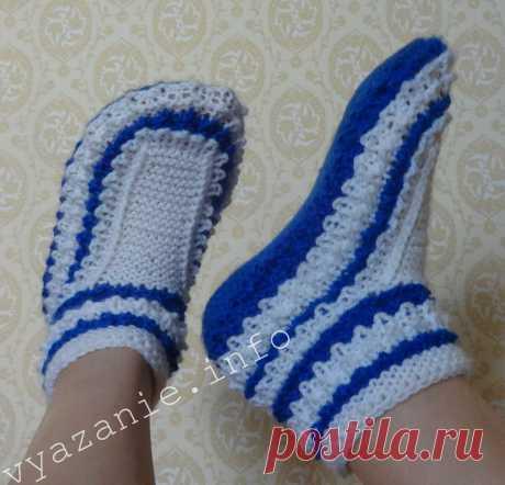 Пинетки спицами не для новорожденных или необычные носки.