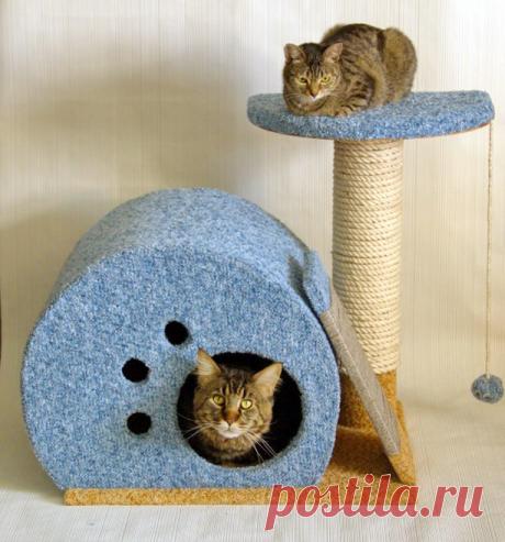 Делаем дом для кошки своими руками