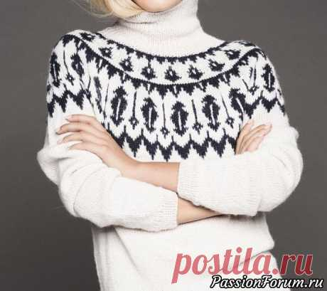 Свитер с эскимосским узором. Описание | Вязание для женщин спицами. Схемы вязания спицами