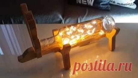 Простой самодельный светильник из бутылки | Своими руками
