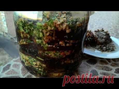 "Баклажаны по-армянски на зиму ""Магаданоси""/Eggplants in Armenian for the winter"