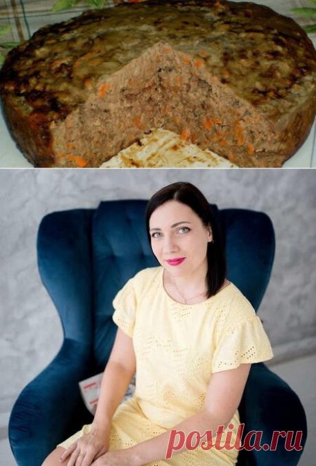 Сочный печеночный пирог в мультиварке или духовке...