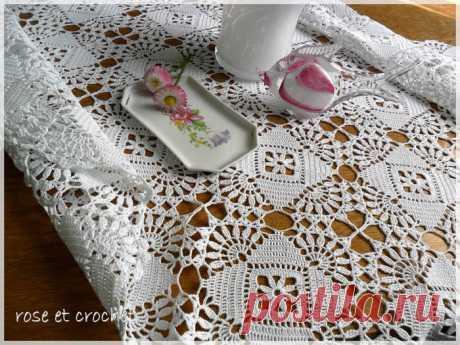 Красивый мотив для вязания скатерти или покрывала. - 22 Июля 2013 - Блог - Вязаные вещи на заказ