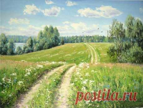 El pintor Oleg Pyatin