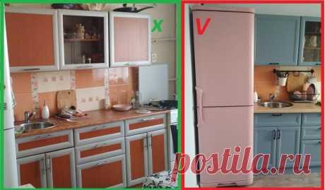 Как перекрасить свою старую надоевшую ламинированную кухню, чтобы краска не слезла! Фото до и после! | Какую кухню купить? | Яндекс Дзен