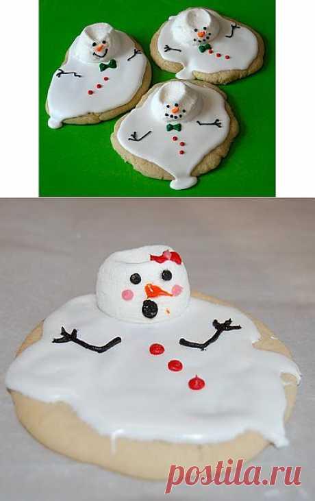 """Вашему малышу : Печенье """"Растаявшие снеговики"""" )))."""