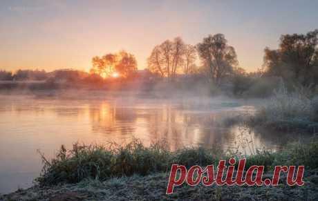 Утро на реке Угра, Смоленская область. Автор фото — Александр Кукринов: