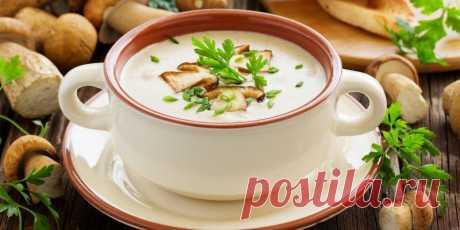 Грибной крем-суп с цветной капустой