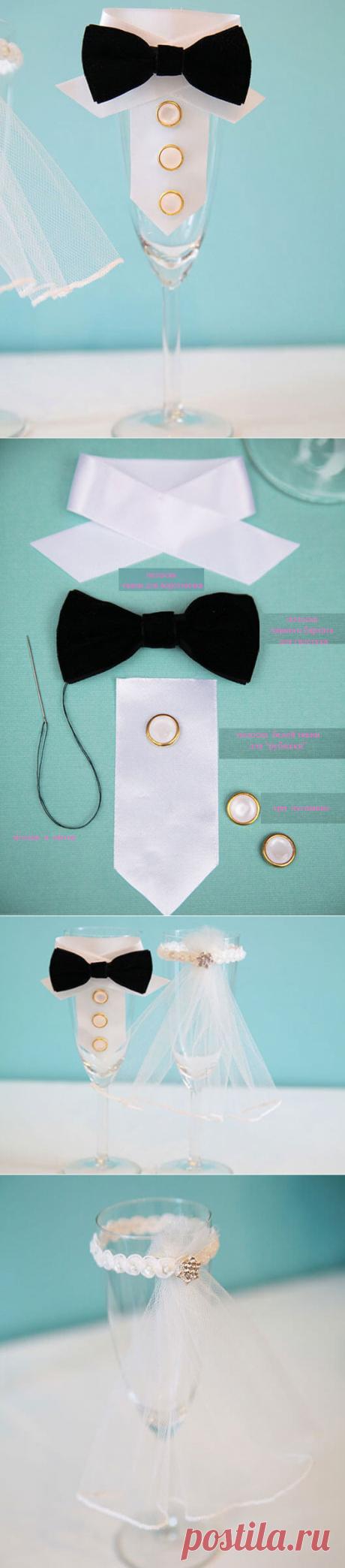 Свадебные бокалы своими руками: подробная интструкция!