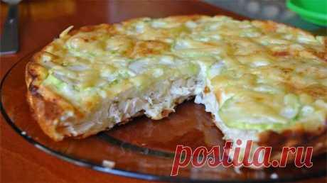 Лёгкий куриный пирог-запеканка - Fav0rit77.ru Предлагаю вам рецепт очень вкусного блюда на ужин! Легкий куриный пирог-запеканка —...