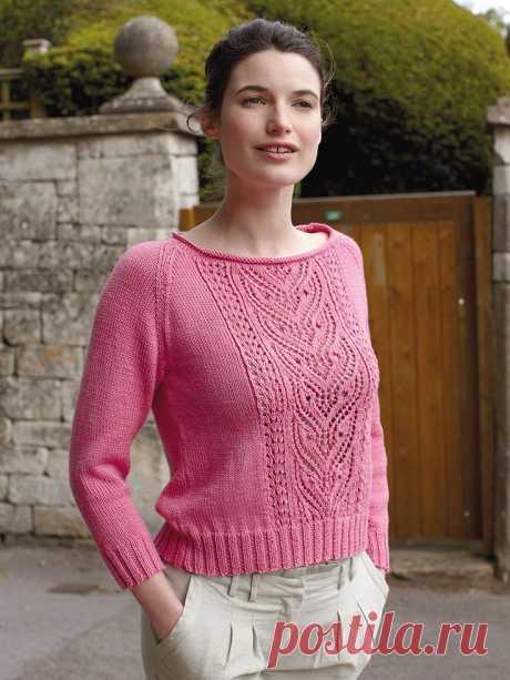 Пуловер с ажурным рисунком — DIYIdeas