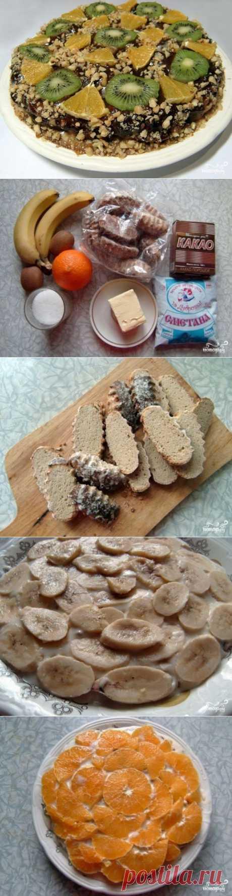 Торт из пряников без выпечки - пошаговый кулинарный рецепт на Повар.ру