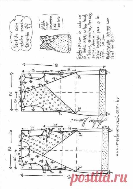 Vestido tubinho com recortes – Marlene Mukai