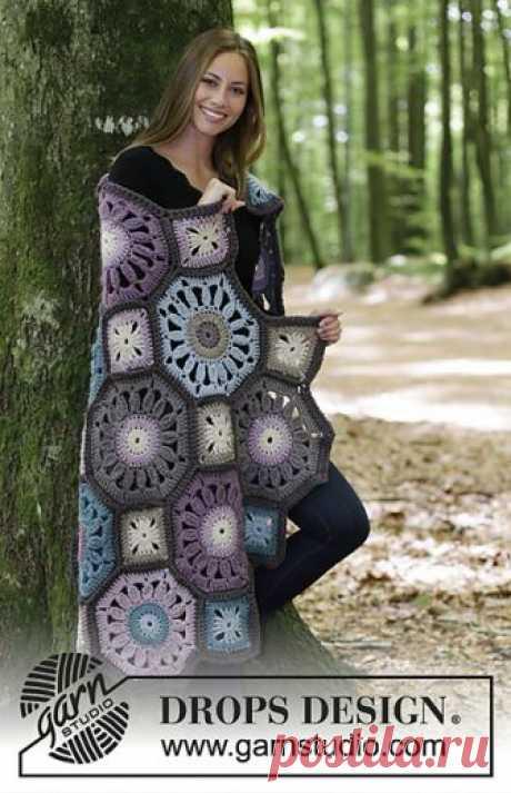 ergahandmade: вязание крючком одеяло + Схемы + Free Pattern