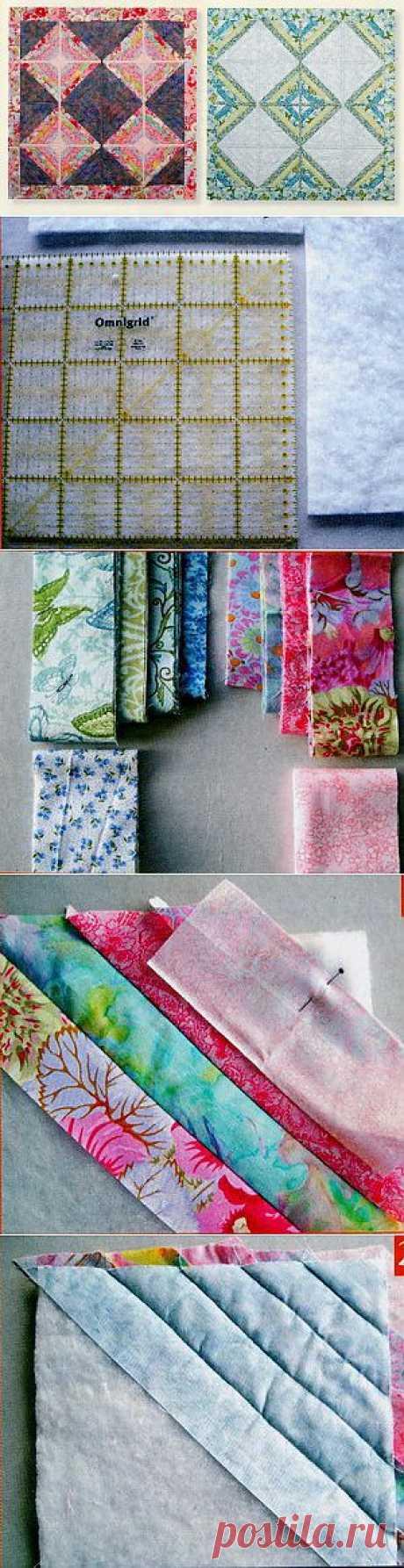 Лоскутное шитье - двустороннее лоскутное одеяло