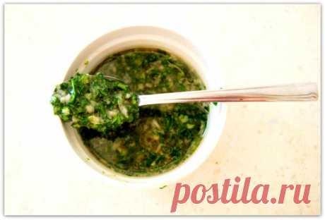 Замечательный маринад для жареных овощей (базилик-петрушка-мёд и ...)