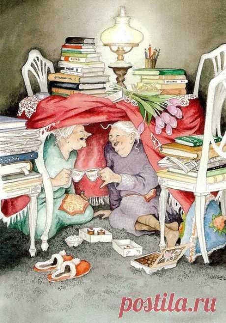 Если и старость - то такая. Картины от автора Инга Лёёк.