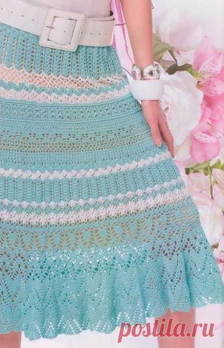 Красивая юбка крючком Красивая юбка крючком