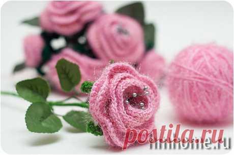 Как связать чайную розу