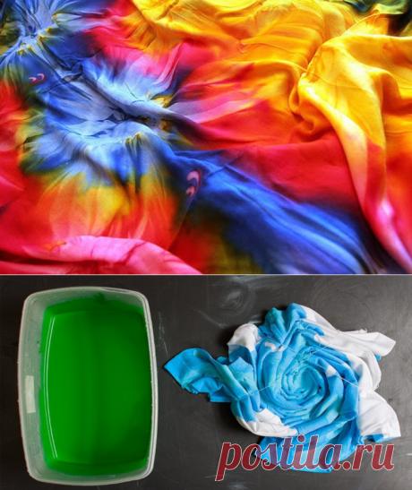 Стиль Tie-Dye: как за пару минут создать уникальный узор на одежде — I Love Hobby — Лучшие мастер-классы со всего мира!