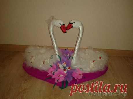 Свадебные лебеди с конфетами