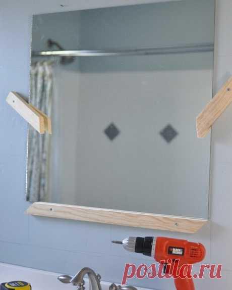 Зеркало с мозаикой в ванной комнате своими руками