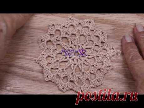 Flor Circular Crochet paso a paso