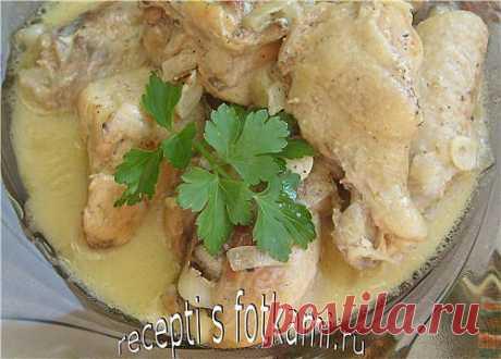 Курица, тушенная в сметане - пошаговый рецепт с фото.