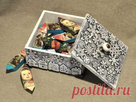 Декорируем деревянный короб для подарка | Журнал Ярмарки Мастеров