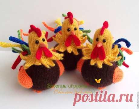 """Comprar """"Петушки"""" los juguetes tejidos - el juguete tejido, el gallito, el gallo, el pájaro, la Pascua, el regalo a la Pascua"""