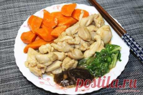 Японская кухня: Рагу из тушеной курицы по-исикавски - рецепт на Российский Wok-Shop