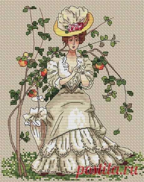 Схема вышивки крестом A Beautiful Lady - Клуб вышивки крестом