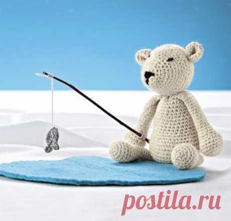 Как связать крючком полярного мишку