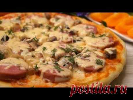 Pizza pie in the microwave oven. Is concerned less than in 10 minutes, it turns out very tasty. The stuffing can be done any, on your discretion. SUBSCRIBE ON...